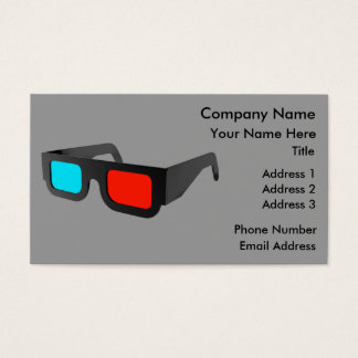 Retro 3D Glasses Business Card