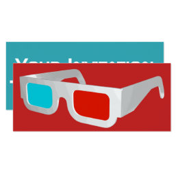Retro 3D Glasses Graphic Card