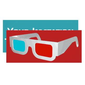 Retro 3D Glasses Graphic Card