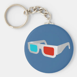 Retro 3D Glasses Graphic Keychain