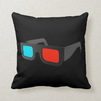 Retro 3D Glasses Graphic Throw Pillow