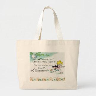 Retro 40th Birthday Tote Bags