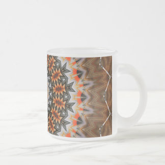 Retro 44 frosted glass coffee mug