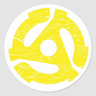 Retro 45 RPM Classic Round Sticker