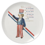 Retro 4th July independence day Dinner Plates