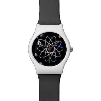 Retro 50s Atomic Symbol Black White Designer Watch