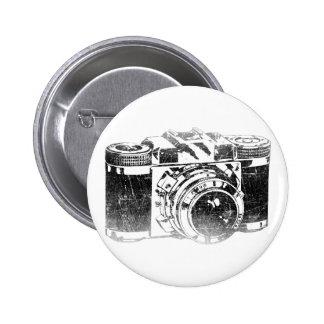 Retro 50's camera 2 inch round button