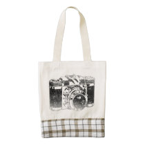 vintage, camera, funny, retro, hipster, cool, geek, vintage camera, retro 50's camera, tote bag, nostalgic, analogic, old spirit, retro camera, analog, flag, old camera, zazzle heart tote bag, [[missing key: type_heartba]] with custom graphic design