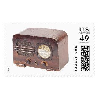 Retro 50's Clock Radio Postage stamps