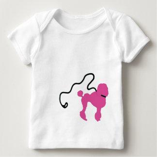 Retro 50's Felt Pink Poodle & Leash Baby T-Shirt