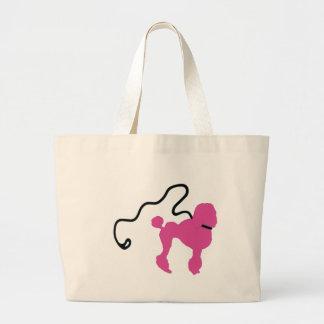 Retro 50's Felt Pink Poodle & Leash Large Tote Bag
