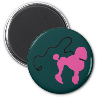 Retro 50's Felt Pink Poodle & Leash Magnet