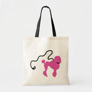 Retro 50's Felt Pink Poodle & Leash Tote Bag
