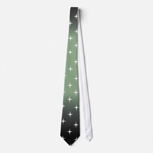 retro 50s green star tie
