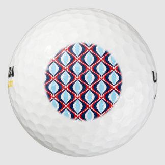Retro 50s Pattern Golf Balls