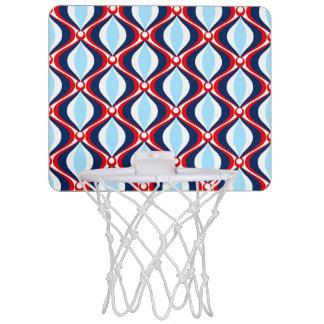 Retro 50s Pattern Mini Basketball Hoop