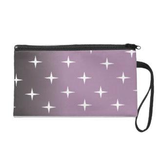 retro 50s pink star wristlet purses