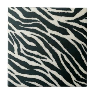 Retro 50s  Rockabilly B&W Zebra Print Tile