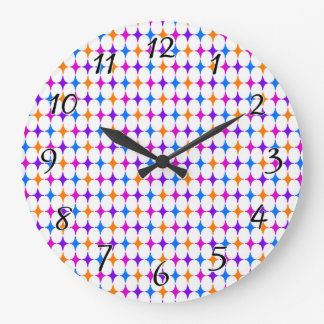 Retro 50s Seamless Pattern Large Clock