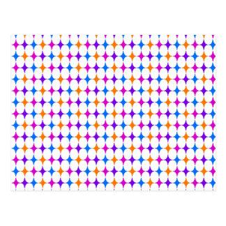 Retro 50s Seamless Pattern Postcard