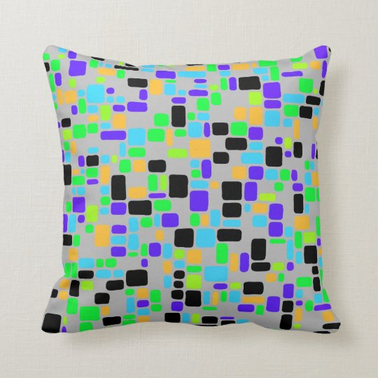 Retro 50's Smooth Squares No. 1 Pillow in 2 sizes
