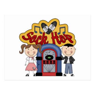 Retro 50's Sock Hop Postcard