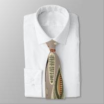 "Retro 50s Vintage Geometric ""Leaf"" Tie"