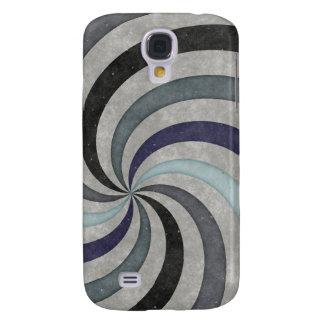 Retro 60 s Blue Gray Swirl Pern Galaxy S4 Cover
