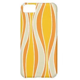 Retro 60ies orange wave pattern iPhone 5C case