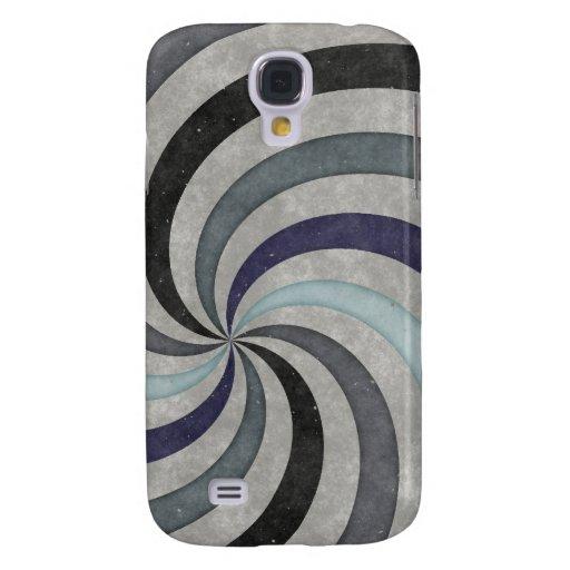 Retro 60's Blue Gray Swirl Pern Galaxy S4 Cover