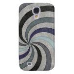 Retro 60's Blue Gray Swirl Pern Samsung Galaxy S4 Cover