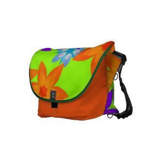 Retro 60's Flower Power Hippy Art Messenger Bag