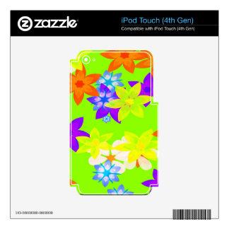 Retro 60's Flower Power Hippy Art Skins iPod Touch 4G Decals