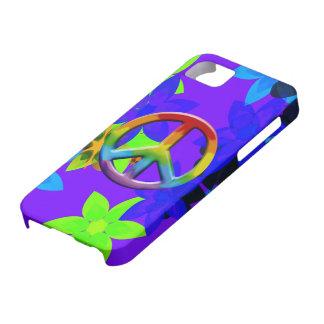 Retro 60's Flower Power Peace Sign Art iPhone Case iPhone 5 Case