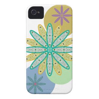 Retro 60s Flowers & Dots iPhone 4 Case-Mate Case