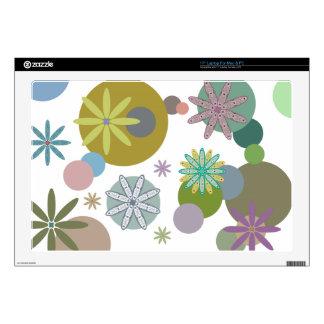 Retro 60s Flowers & Dots Laptop Decals