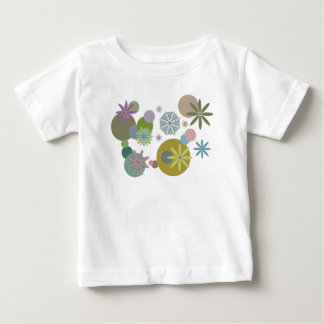Retro 60's Groovy Flowers and Dots T-Shirt
