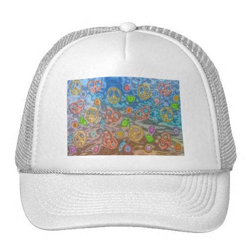 Retro 60s Peaceful Ocean Life Apparel Gifts Trucker Hat