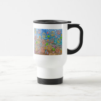 Retro 60s Peaceful Ocean Life Apparel Gifts Travel Mug