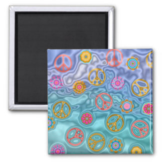 Retro 60s Peaceful Ocean Waves Apparel Gifts Magnet