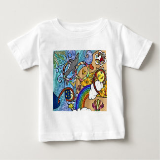 Retro 60s Psychedelic At The Beach Gifts Apparel Baby T-Shirt