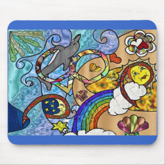 Retro 60s Psychedelic At The Beach Gifts Apparel Mouse Pad