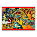 Retro 60s Psychedelic Cycle Of Life Gifts Apparel Greeting Card