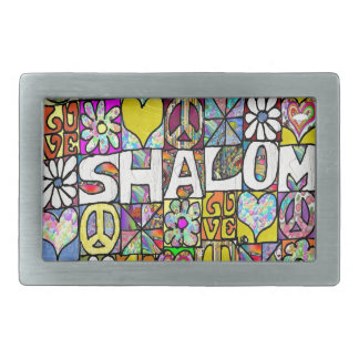 Retro 60s Psychedelic Shalom LOVE Belt Buckles