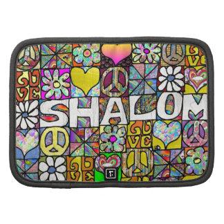 Retro 60s Psychedelic Shalom LOVE Organizer
