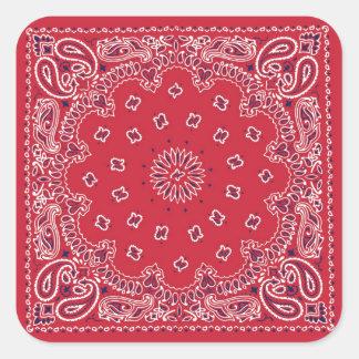 Retro 60s Red Bandanna Stickers