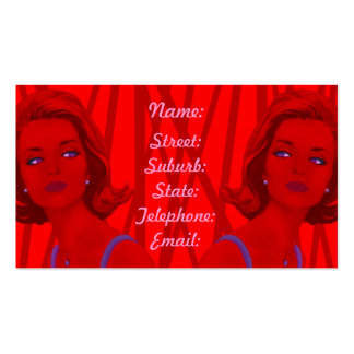 Retro 60s Red Hairdressers Business Card