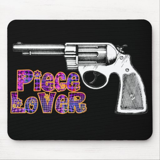 Retro 60s Satire Gun Owner Mousepad