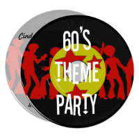 Retro 60's Theme Party Invitation