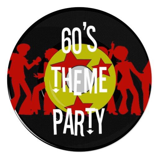 Retro 60's Theme Party Invitations | Zazzle